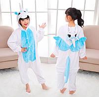 Детский Костюм Кигуруми, Пижама кингуруми Единорог с крыльями для детей на взрослых детские пижамы