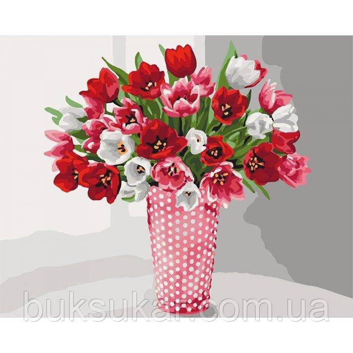 """Картина по номерам """" Розмаїття тюльпанів """""""