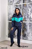 Тёплый лыжный зимний женский костюм NIKE штанах куртка на овчине с капюшоном 42 44 46 48 50 52 54 56, фото 1
