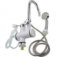 Проточный водонагреватель с душем электрический Кран бойлер с подогревом воды с дисплеем нижнее подключение
