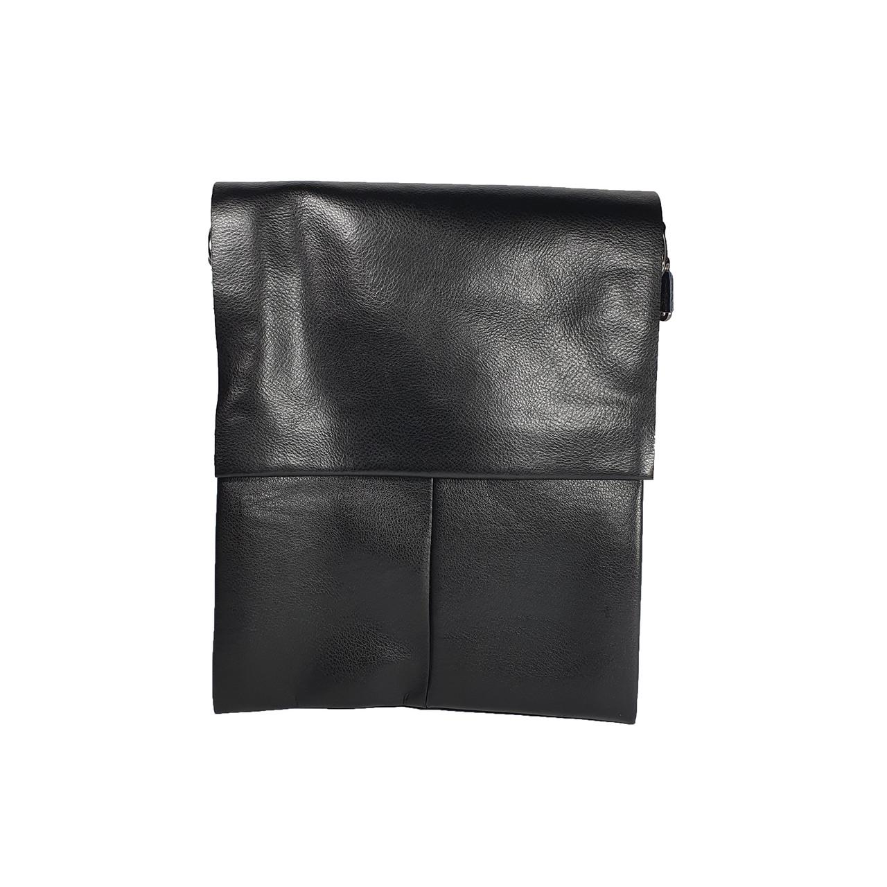 Многосекционная сумка с кожаным клапаном под формат А4