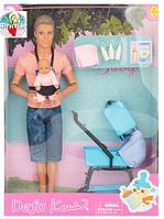 Игровой набор кукла шарнирная Кен с младенцем Defa 8369, аксессуары