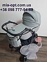 Детская коляска 2 в 1 Classik (Классик) Victoria Gold эко кожа серая, фото 4