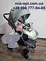 Детская коляска 2 в 1 Classik (Классик) Victoria Gold эко кожа серая, фото 9