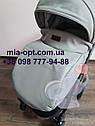 Детская коляска 2 в 1 Classik (Классик) Victoria Gold эко кожа серая, фото 7