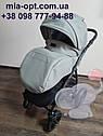 Детская коляска 2 в 1 Classik (Классик) Victoria Gold эко кожа серая, фото 6