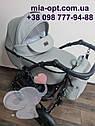 Детская коляска 2 в 1 Classik (Классик) Victoria Gold эко кожа серая, фото 3