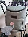Детская коляска 2 в 1 Classik (Классик) Victoria Gold эко кожа серая, фото 5