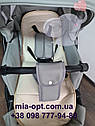 Детская коляска 2 в 1 Classik (Классик) Victoria Gold эко кожа серая, фото 8