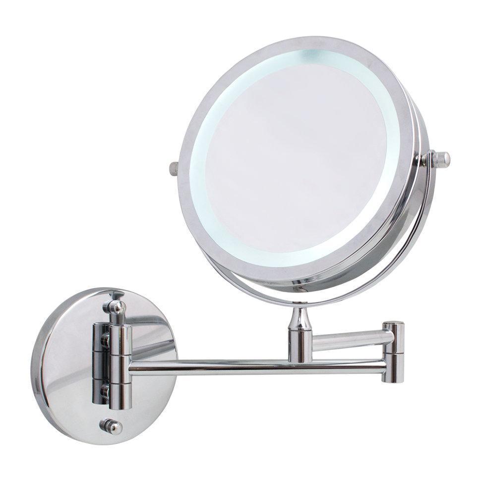 LED ARINO ХРОМ Зеркало c увеличением и подсветкой настенное круглое подвесное
