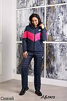 Тёплый лыжный зимний женский костюм NIKE штанах куртка на овчине с капюшоном 42 44 46 48 50 52 54 56