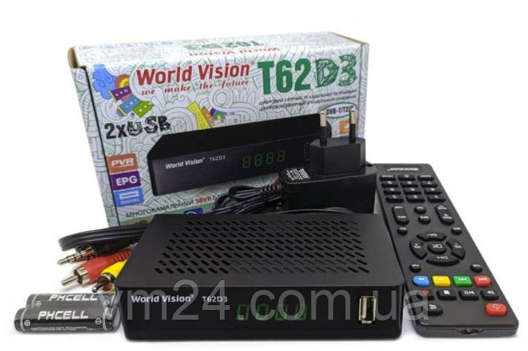 WiFi  5db Цифровой TV-тюнер DVB Т2\C тюнер World Vision T62D3-32 канала  AC3 IPTV ,YouTube ,Megogo+HDMI