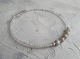 Чокер серебряный ′Лабрадор′, фото 5