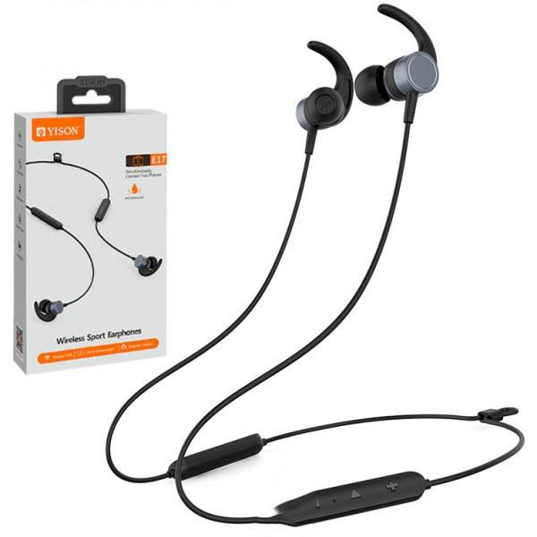 Наушники Bluetooth спортивные вакуумные Yison E17 беспроводные, стерео гарнитура спортивная  black