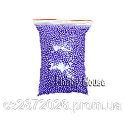 Шарики пенопластовые 4-6 мм,1000 мл, Фиолетовые для слаймов и декора.