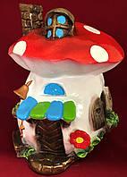 Садовые фигуры декоративные из гипса Грибной домик, фото 1