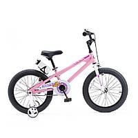 """Велосипед RoyalBaby FREESTYLE 18"""", OFFICIAL UA Рожевий"""