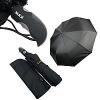 """Мужской складной зонт-полуавтомат на 10 спиц с системой """"антиветер"""" от Max, черный, 261-1, фото 1"""