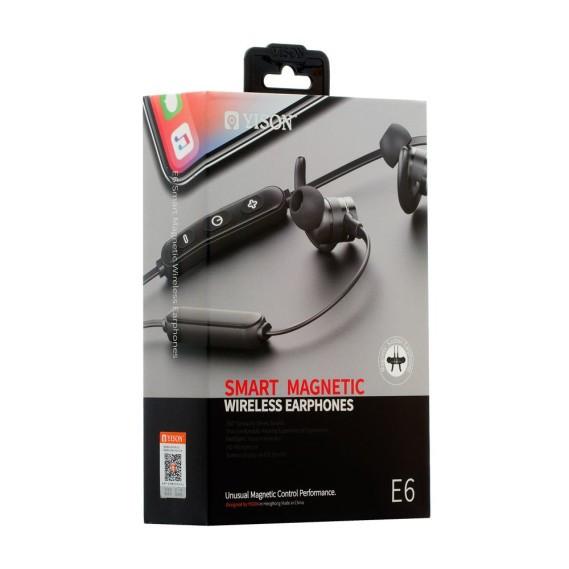 Наушники Bluetooth спортивные вакуумные Yison E6 беспроводные, стерео гарнитура спортивная  черные / белые