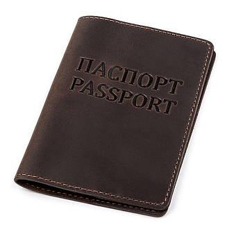 Обкладинка на паспорт Shvigel 13918 Коричнева шкіряна, фото 2