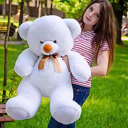 Плюшевые медведи: Плюшевый медвежонок Томми 1 метр (100 см), Белый
