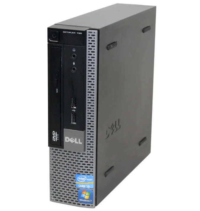 Системний блок Dell Optiplex 790 USFF-Intel Core-i3-2100-3.1GHz-4Gb-DDR3-HDD-320Gb-DVD-R-(B)- Б/У