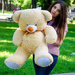Плюшевые медведи: Плюшевый медвежонок Томми 1 метр (100 см), Бежевый