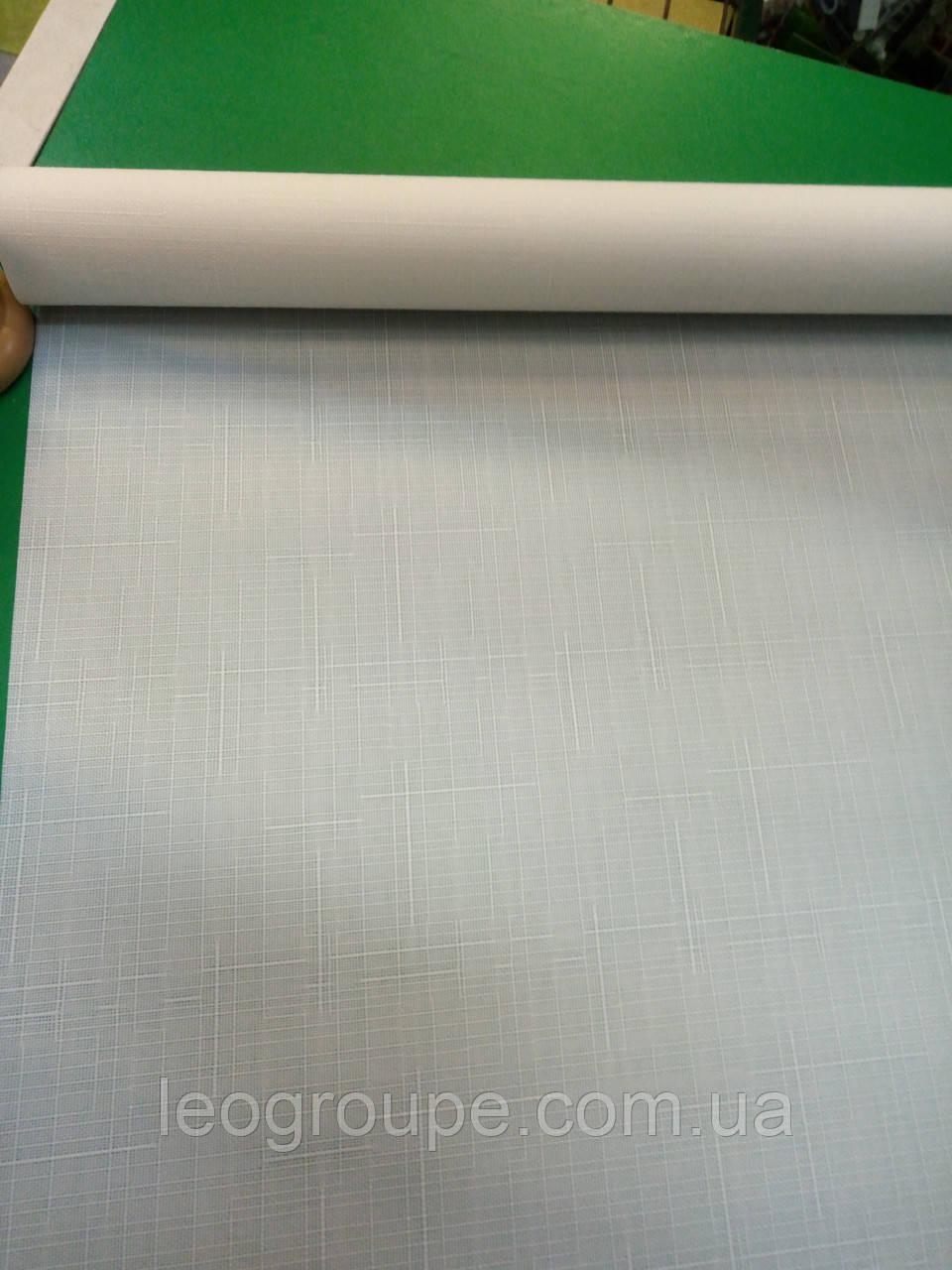 Рулонная штора лен белый 0,75х180