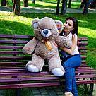 Плюшевые медведи: Плюшевый медвежонок Томми 1 метр (100 см), Капучино, фото 3