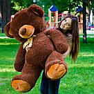 Плюшевые медведи: Плюшевый медвежонок Томми 1,5 метра (150 см), Шоколадный, фото 2