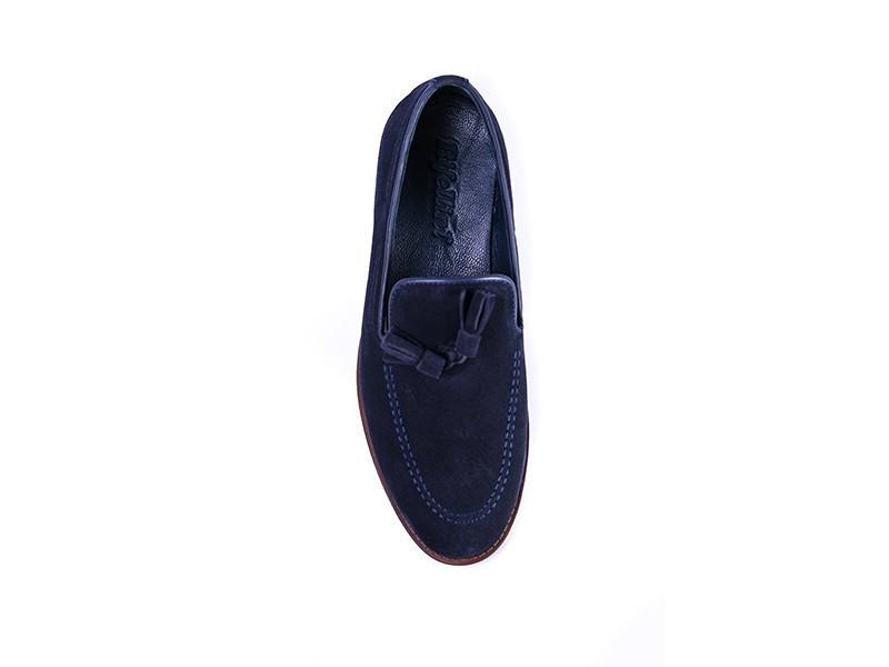 Туфлі лофери, сині замшеві Rifellini