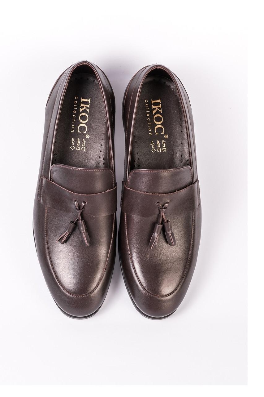 Коричневі туфлі лофери ІКОС 275