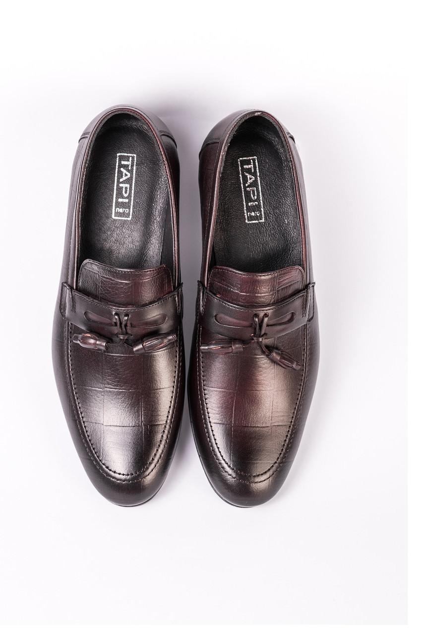 Туфли лоферы,  бордовые Tapi 248 лофери