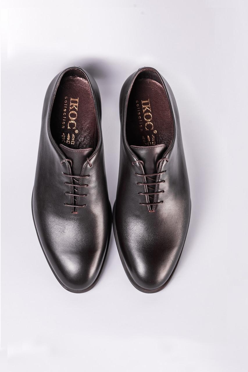 Цельнокроеные туфли коричневые ІКОС 214