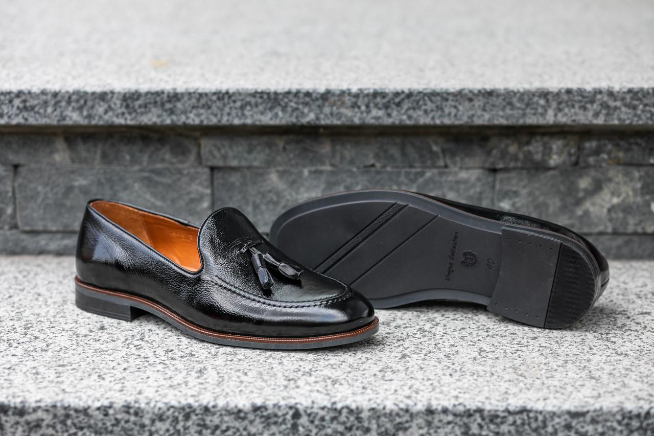 Туфли лоферы, черные ІКОС 264 лофери