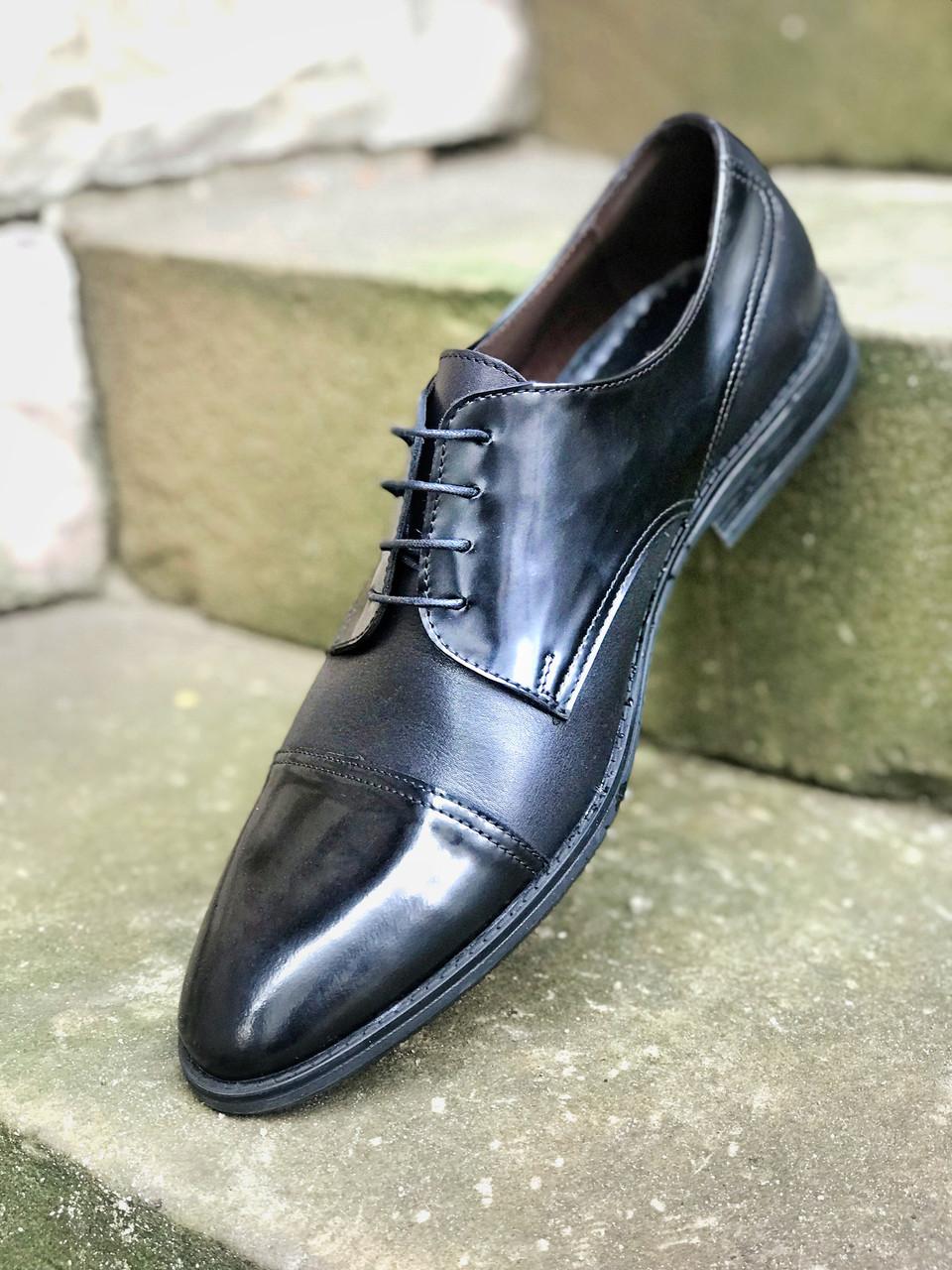 Туфли дерби, черные Ікос