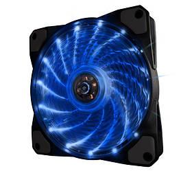Вентилятор 1STPLAYER LED Fan 15LED Blue 120х120х25мм, 3-pin+4-pin