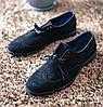 Броги замшевые, черные., фото 2