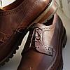 Туфли броги рыжие Ікос 322, фото 5