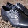 Туфли броги ІКОС 57  синие туфлі Ikos, фото 3