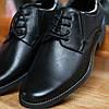 Чоловічі чорні туфлі Minardi на грубшій підошві, фото 3