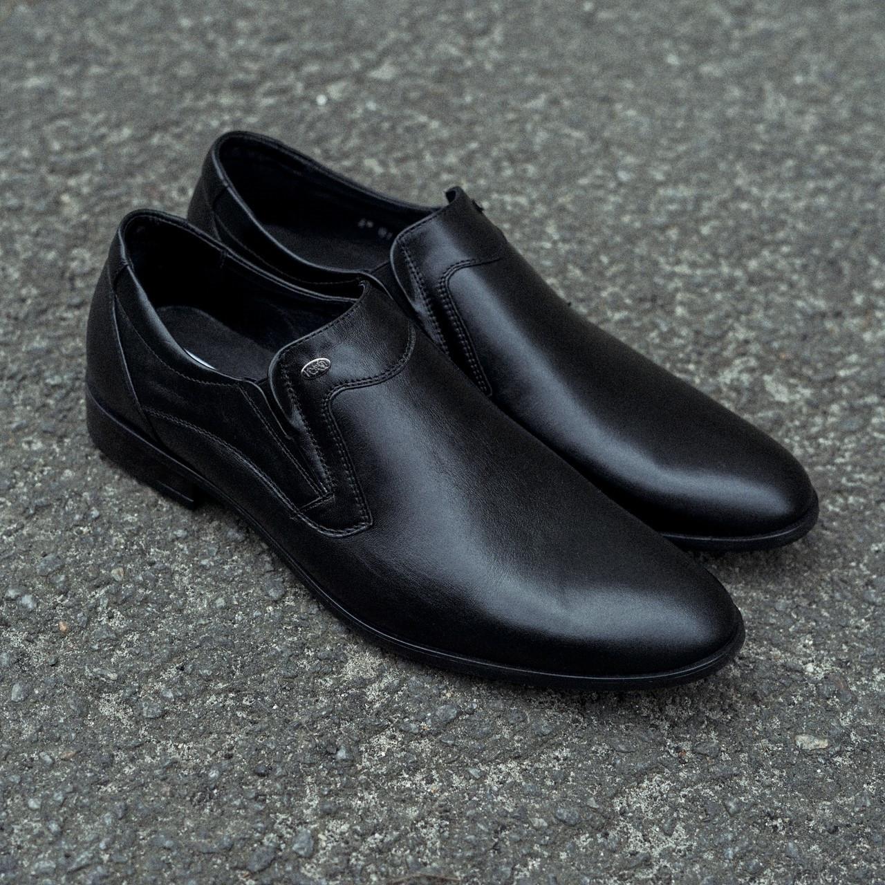 Елегантні шкіряні чоловічі туфлі Pan 305