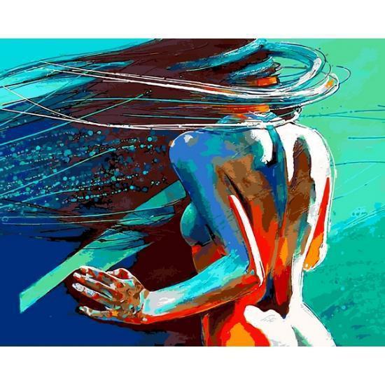 Картина рисование по номерам Babylon Ветер в волосах 40х50см VP1185 набор для росписи, краски, кисти, холст