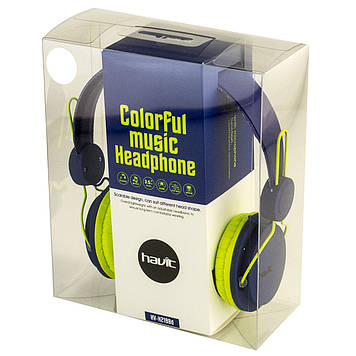 Навушники Havit HV-H2198D blue/green+мікрофон