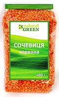 Чечевица красная, Natural Green, 400гр.