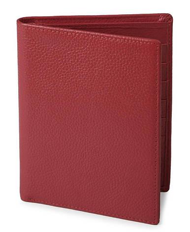 Кошелек SHVIGEL 13831 кожаный с отделениями для паспортов Красный, фото 2