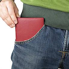 Кошелек SHVIGEL 13831 кожаный с отделениями для паспортов Красный, фото 3