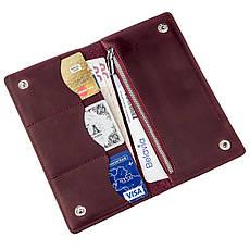 Бумажник женский на кнопках кожаный матовый SHVIGEL 16196 Бордовый, фото 3