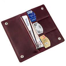 Бумажник женский на кнопках кожаный матовый SHVIGEL 16196 Бордовый, фото 2