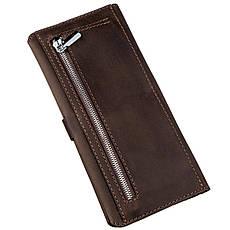 Бумажник мужской из винтажной кожи SHVIGEL 16207 Темно-коричневый, фото 2
